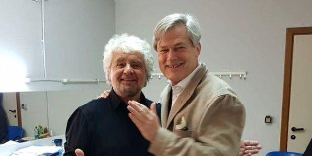 Beppe Grillo in campo per riaccendere la quinta stella, l'ambiente. Porta a Roma il guru della blue
