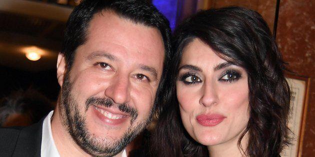 Matteo Salvini Elisa Isoardi in uno scatto del 9 febbraio