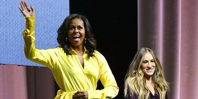 Michelle Obama indossa stivali glitterati da 4mila dollari e fa impallidire Carrie di