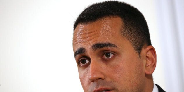 Anti-establishment 5-Star Movement Luigi Di Maio looks on during a news conference at the Foreign Press...