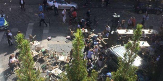 Furgone sulla folla a Muenster, in Germania: morti e feriti. La polizia: