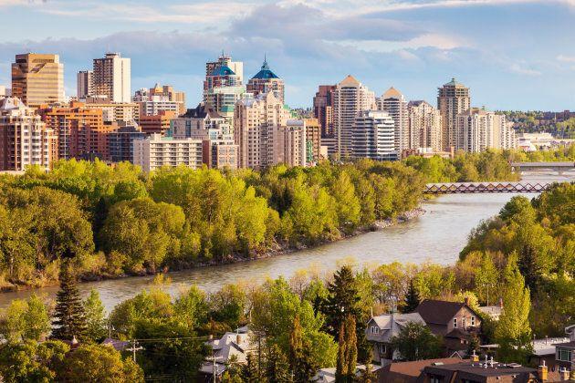 Calgary - panorama of the city. Calgary, Alberta,
