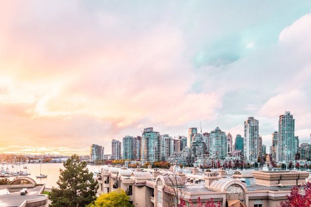 Photo of Autumn Sunset at Downtown Vancouver,