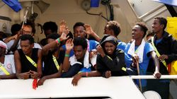 Aquarius attracca a Malta. Unchr: