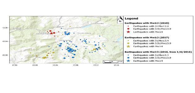 Il sito sensibile di Muccia e le anomalie di radon di qualche giorno
