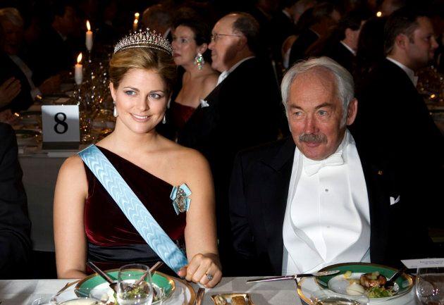 A destra Grunberg in compagnia della principessa Maddalena di