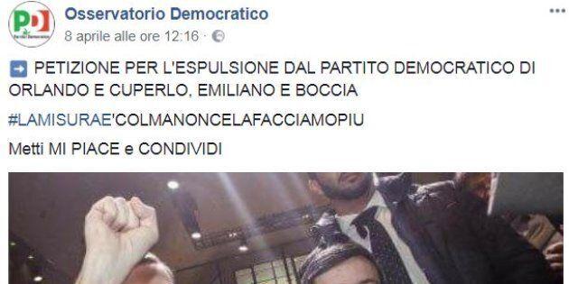 Pagina fan del Pd invoca la cacciata della minoranza dal partito. Martina annuncia azioni