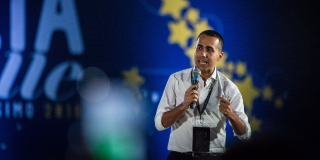 Italy's Minister of Labor and Industry Luigi Di Maio attends 'Italia 5 Stelle' kermesse of the M5S 5...