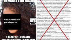 La lettera del padre di Marta, morta a Genova, è falsa: l'ignobile bufala corre sui