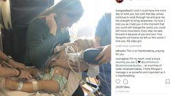 Tiene fra le braccia la figlia che muore: l'immagine straziante condivisa dalla moglie di Bode