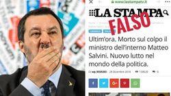 Salvini allontana le fake news sulla sua morte: