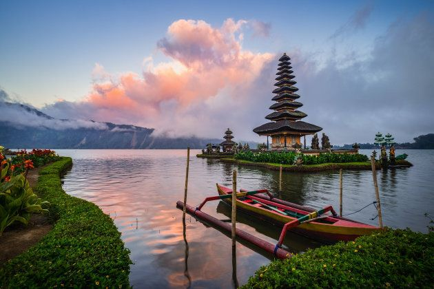 Pura Bratan, this important Hindu-Buddhist temple is a major Shaivite water temple on Bali,