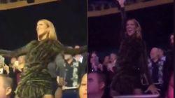 Lady Gaga si scatena al concerto, ma il vero spettacolo lo dà Celine Dion sugli