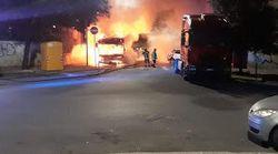 In fiamme il primo bus di Roma del