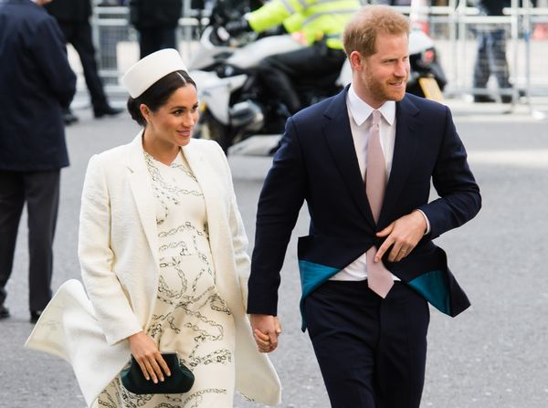 That means Harry and Meghan's son is seventh in line to the throne. The two (pictured here in March) were notably private abo