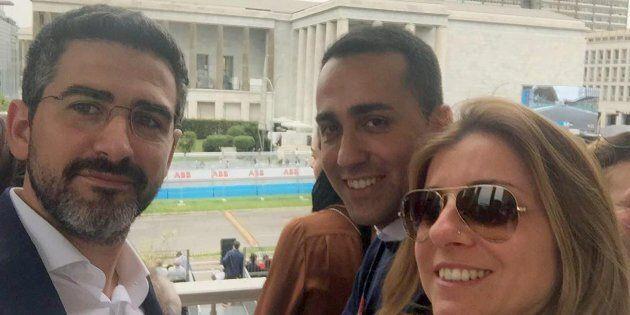 La fidanzata di Luigi Di Maio, Giovanna Melodia, accompagna il leader M5s per assistere al Gran Premio...