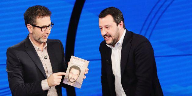 Fabio Fazio chiede lo sbarco dei migranti dalla Diciotti. E Salvini twitta: