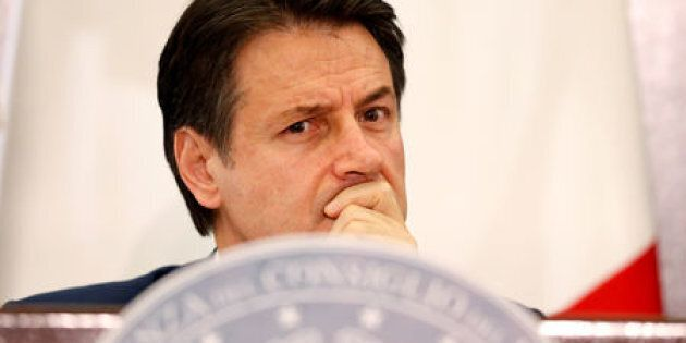FILE PHOTO: Italian Prime Minister Giuseppe Conte holds his end-of-year news conference in Rome, Italy,...
