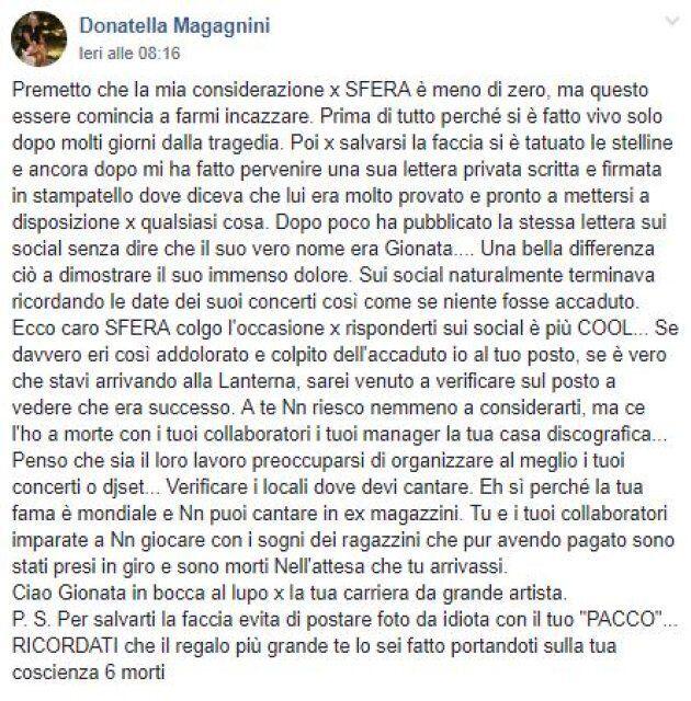 Il post di Donatella