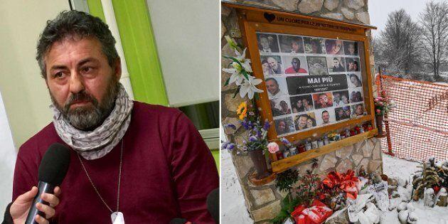 Alessio Feniello, padre di Stefano, una delle vittime della tragedia di Rigopiano - le foto delle