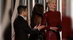 Rami Malek snobbato da Nicole Kidman ai Golden Globes. La risposta dell'attore spiazza