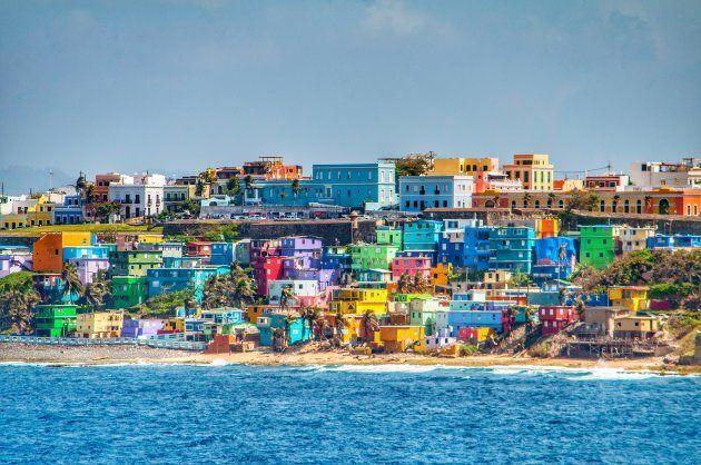 Island life and island colors in San Juan, Puerto
