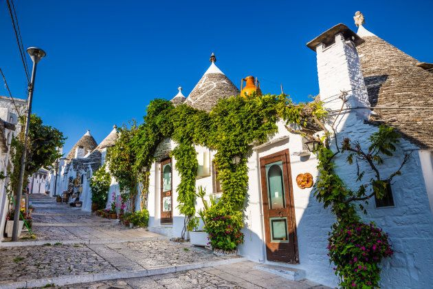 Beautiful Town Of Alberobello With Trulli Houses - Apulia Region, Italy,