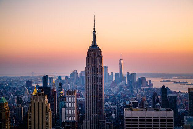Iconic Manhattan skyline , New York