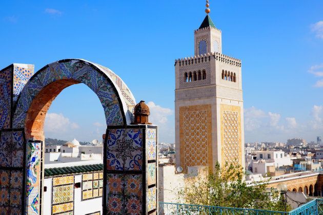 View of famous Mosque in Tunis,