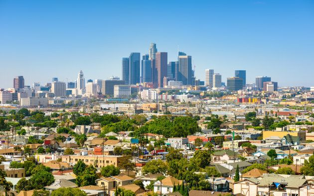 Los Angeles, California, USA downtown cityscape at sunny
