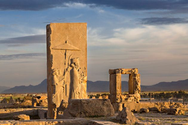 Remains of Persian city of Persepolis in