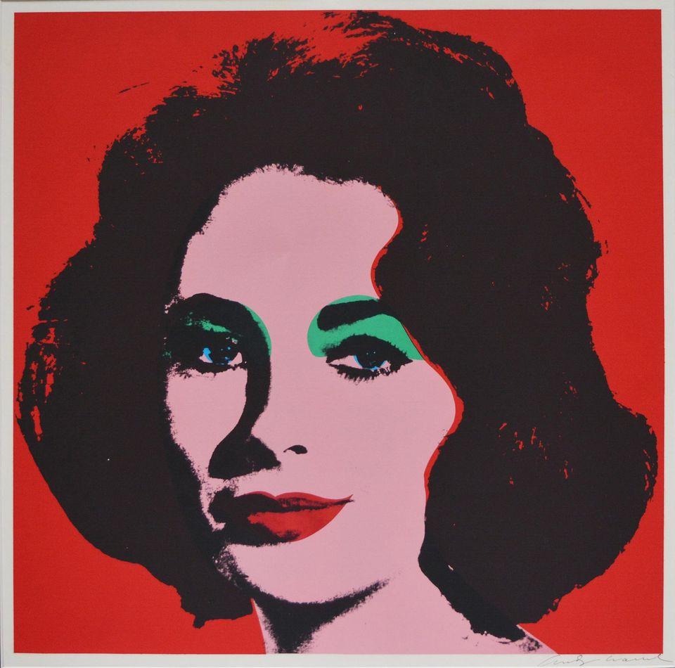Liz, 1964 Serigrafia su carta, 58,7x58,7 cm Collezione privata,