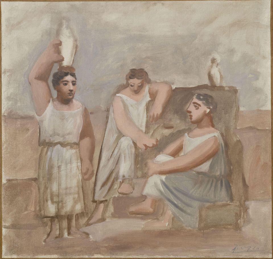 Donne alla fonte, 1921 - olio su tela, 50x52 cm - Paris, Musée de