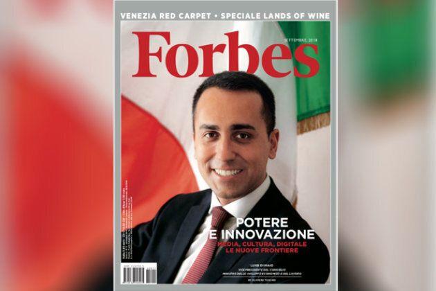 Di Maio in prima pagina su Forbes fotografato da Oliviero Toscani, il fotografo dei