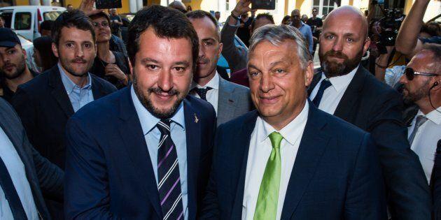 Milano 28/08/2018 Prefettura, Incontro tra il Ministro dell'Interno Matteo Salvini con il Primo Ministro...