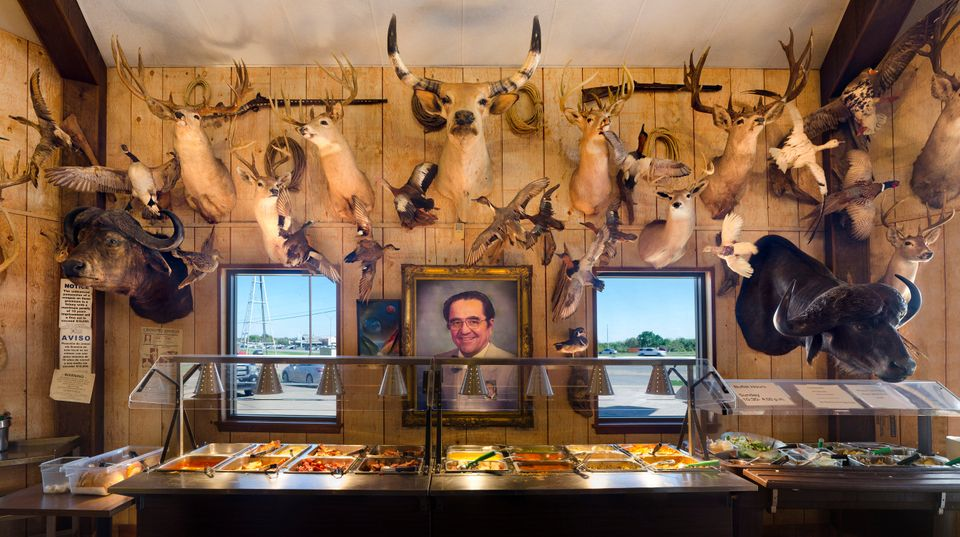 Jerry Mikeska's BBQ in Columbus, Texas features an all-you-can-eat buffet on Sunday afternoons. ©Rich...