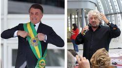 Nel giorno dell'arresto di Battisti, Grillo attacca Bolsonaro: