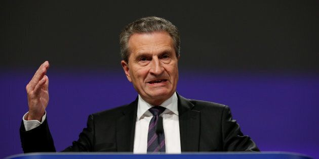 Il commissario europeo Guenther Oettinger: