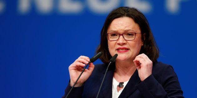 Per il dopo Schulz è stata scelta Andrea Nahles: l'Spd elegge la prima donna alla guida del