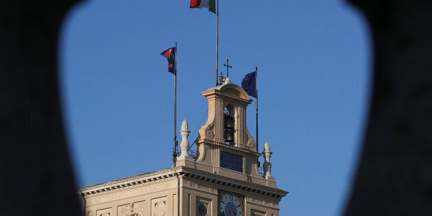 Quirinale Palace is seen during consultations by Italian President Sergio Mattarella in Rome, Italy,...