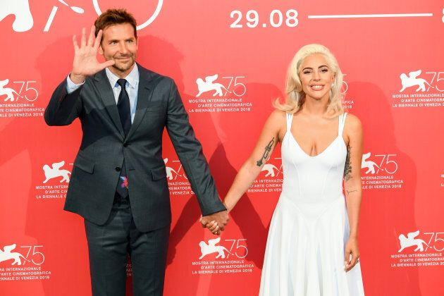 VENICE, ITALY - AUGUST 31: Actor Bradley Cooper and Singer and actress Lady Gaga attend 'A Star Is Born'...