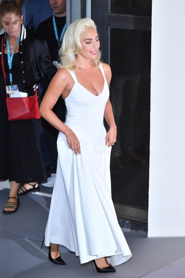VENICE, ITALY - AUGUST 31: Lady Gaga attends 'A Star Is Born' photocall during the 75th Venice Film Festival...