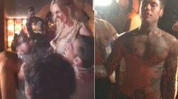 Fedez balla a petto nudo, la Ferragni si lancia in aria: la festa prematrimoniale è da