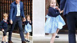 Charlotte si comporta da principessa e saluta, ma George continua a tenere il