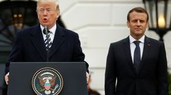 """Cerimonie e un """"rapporto speciale"""", ma Macron e Trump sull'Iran restano"""