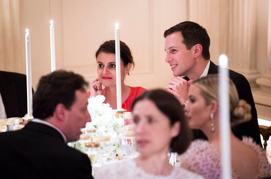 WASHINGTON, DC - APRIL 24: White House adviser Jared Kushner talks with others before President Donald...