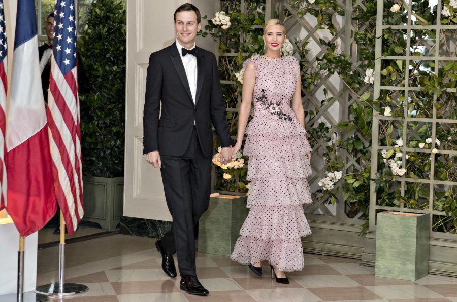 Ivanka Trump, assistant to U.S. President Donald Trump, right, and Jared Kushner, senior White House...