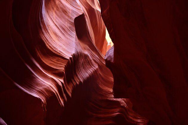 Formazioni rocciose nell'Antelope Canyon,