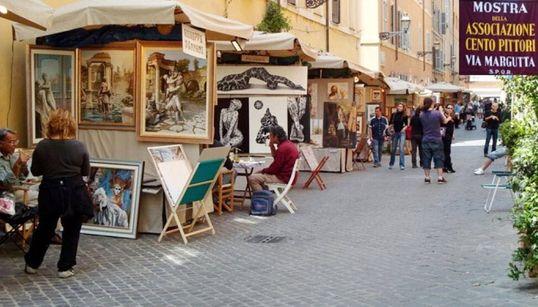 """Tornano i """"Cento pittori"""" a via Margutta: dal 27 aprile al 1° maggio, la storica via dell'arte 'colora' la Primavera"""