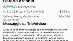 Tripadvisor blocca la pagina del vincitore di